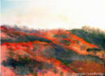 Phinney Ridge in Autumn, pastel painting