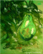 What a Pear!  Pastel painting