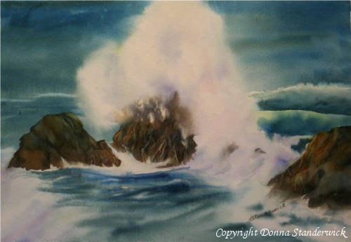 Pacific Spume, watercolor painting